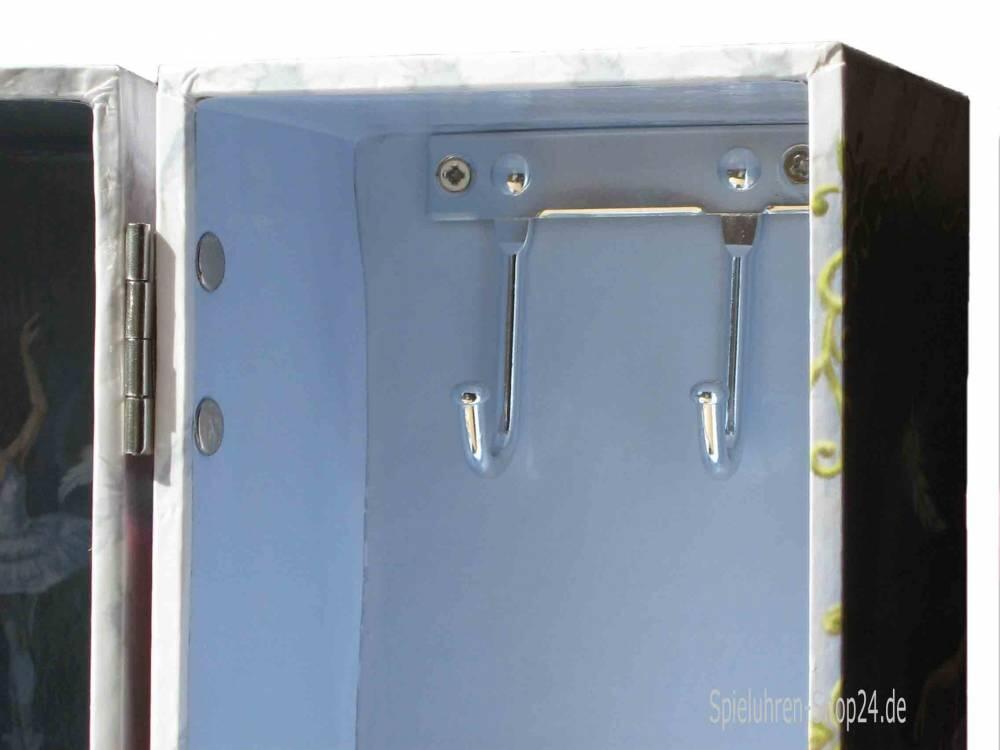Schmuckschrank und Spieluhr weiß blau - Spieluhren-Shop24.de