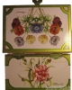 Trousselier Anemonen-Spieluhr, Ansicht Rückseite, Spieldose geöffnet