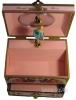 Trousselier Anemonen-Spieluhr, Ansicht oben, Spieldose geöffnet
