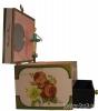 Trousselier Anemonen-Spieluhr, Ansicht Seite, Spieldose geöffnet