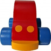 Spieluhr - Rotes Auto aus Holz