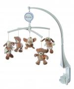 "Baby-Spieluhr Musik-Mobile ""Rainbow"" Hunde, Ente, Teddy"