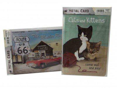 Blech-Postkarte, 2-fach sortiert