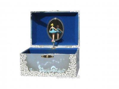 Blaue Spieluhr Ballerina Schwanensee
