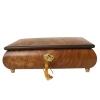 Schmuckschatulle mit Rosenintarsien von Böhme Music, Ansicht von vorn mit Schlüssel und geschlossenem Deckel