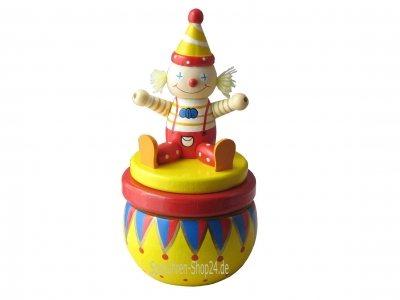 """Spieluhr aus Holz """"Clown in der Manege"""""""