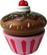 Bunte Cupcake Spieluhr aus Holz