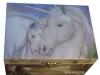 Spieluhr Gentle Unicorn - das sanfte Einhorn, Ansicht auf geschlossenen Deckel
