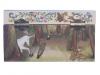 Spieluhr Gentle Unicorn - das sanfte Einhorn, Spieldose geschlossen, Ansicht Rückseite mit Aufziehmechanismus