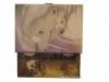 Spieluhr Gentle Unicorn - das sanfte Einhorn, Spieldose geöffnet, Ansicht Rückseite mit Aufziehmechanismus