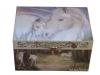 Spieluhr Gentle Unicorn - das sanfte Einhorn, Spieldose geschlossen, Ansicht von schräg oben