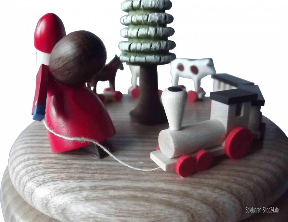 Amazing Grace Henreal Acryl-Handkurbel aus Metall Bewegung Spieluhr Kinder Spielzeug Geburtstag Weihnachten