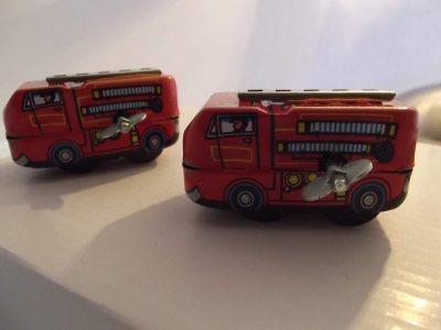 Nostalgie Blechautos - Feuerwehr 6 cm zum Aufziehen
