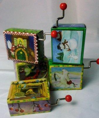 Handkurbel-Spielwerk in fester Ummantelung, Weihnachts-Collektion
