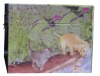Spieluhr Hunde- und Katzenwelpen, Ansicht zweite Seite, Spieldose geschlossen