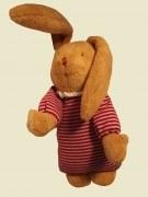 Kuschelhase mit Spieluhr gestreift von Trousselier