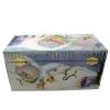 Elfenwinter Spieluhren für jede Jahreszeit, Ansicht Rückseite mit Aufziehmechanismus, Spieldose geschlossen