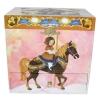 Spieluhr Karussell mit sich drehendem Pferd, Frontansicht geschlossen mit Karussellpferdmotiv