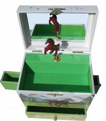 Pferde im Galopp - große Spieluhr Enchantmints, B-Ware, Einzelstück