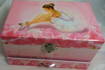 """Rosa Spieluhr  """"Ballerina"""" von Trousselier"""