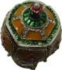 Fabergè Stil Schmuckei mit Krone und Spieluhr, Sicht auf das prächtige Dekor von oben