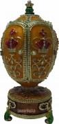 Fabergè Stil Schmuckei prunkvoll mit Krone, Spieluhr