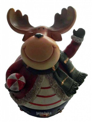 Weihnachtliche Elch-Spieluhr Rudolph
