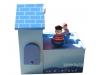 Spieluhr Piraten mit Spardose Ansicht Seite auf geschlossene Schatzkammer