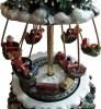 Tannenbaum Spieluhr mit Ketten-Karussell, reizend die beweglichen Gondeln mit weihnachtlichen Figuren
