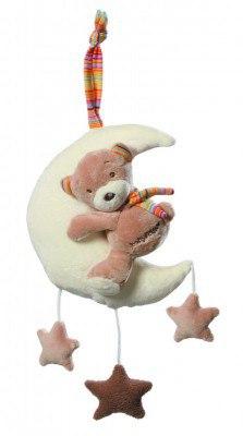 """Spieluhr für Babys, Fehn Reihe """"Rainbow"""" Teddy auf Mond"""