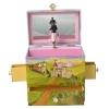Spieluhr Tanzpaar Prinz & Prinzessin, geöffnete Spieldose Frontansicht