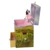 Spieluhr Tanzpaar Prinz & Prinzessin, geöffnete Spieldose Seitenansicht