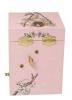 Kirschblüten Fee Traumspieluhr von Trousselier, Ansicht Rückseite mit Aufziehmechanismus, geschlossen