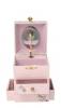 Kirschblüten Fee Traumspieluhr von Trousselier, Ansicht von vorn, Spieluhr und Schubladen geöffnet