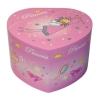 Spieluhr in Herzform kleine Prinzessin, Ansicht vorn auf geschlossene Spieldose