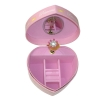 Spieluhr in Herzform kleine Prinzessin, Ansicht von oben auf geöffnete Spieldose