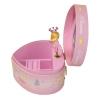 Spieluhr in Herzform kleine Prinzessin, Ansicht Seite auf geöffnete Spieldose
