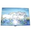 Spieluhr weiße Pferde der Camargue Ansicht von oben auf den Deckel der geschlossenen Spieldose