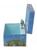 Regenbogenfisch Spieluhr Trousselier, Seitenansicht geöffnete Spieldose