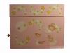 Zartrosa Spieluhr mit Sternenfee, Ansicht Seite, Spieldose geschlossen