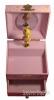 Zartrosa Spieluhr mit Sternenfee, Ansicht oben, Spieldose und Schublade geöffnet