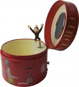 Ovale Spieldose Zirkus mit Äffchen
