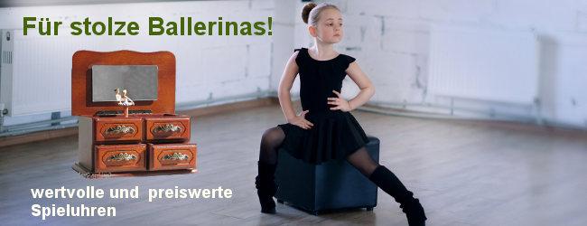 Für stolze Ballerinas - wertvolle und preiswerte Spieluhren
