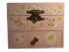 Zartrosa Spieluhr mit Sternenfee, Ansicht vorn, Spieldose geschlossen