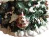 Tannenbaum Spieluhr mit Ketten-Karussell, Ausschnitt von geschmücktem Karussell-Fuß
